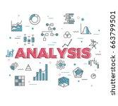 illustration of data analysis... | Shutterstock .eps vector #663799501