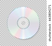 realistic cd icon. compact disc ... | Shutterstock .eps vector #663804271