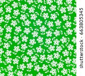 seamless flowers    Shutterstock .eps vector #663805345