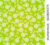 seamless flowers    Shutterstock .eps vector #663805375