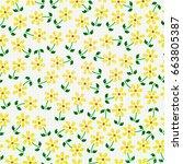 seamless flowers  | Shutterstock .eps vector #663805387