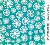 seamless flowers    Shutterstock .eps vector #663805411
