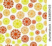 seamless flowers    Shutterstock .eps vector #663805435