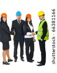 two teams of architects ...   Shutterstock . vector #66381166