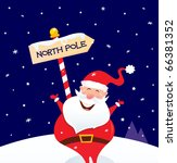 happy christmas santa with... | Shutterstock .eps vector #66381352