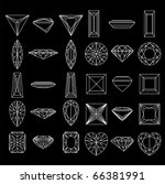 collection  shapes of diamond... | Shutterstock .eps vector #66381991
