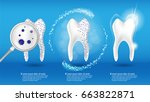 oral care and dental health... | Shutterstock .eps vector #663822871