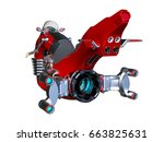 3d cg rendering of a hoverbike | Shutterstock . vector #663825631