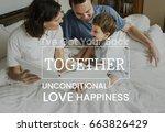 family parentage home love... | Shutterstock . vector #663826429