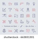 icons repair  building ... | Shutterstock .eps vector #663831301