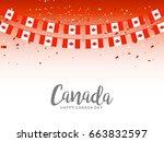 illustration of happy canada... | Shutterstock .eps vector #663832597