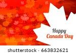 illustration of happy canada... | Shutterstock .eps vector #663832621
