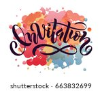hand sketched invitation... | Shutterstock .eps vector #663832699