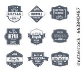 bicycle repair   vector set of... | Shutterstock .eps vector #663840487