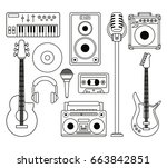 white background with... | Shutterstock .eps vector #663842851