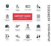 airport guide   modern vector... | Shutterstock .eps vector #663843031