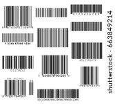 set of vector barcodes. | Shutterstock .eps vector #663849214