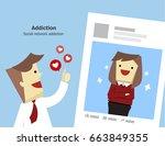 illustration vector social... | Shutterstock .eps vector #663849355