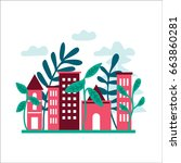 vector illustrations of... | Shutterstock .eps vector #663860281