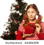 picture of cheerful redhair... | Shutterstock . vector #66386308