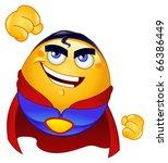 super hero emoticon   Shutterstock .eps vector #66386449