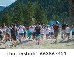 planica  slovenia  06.17.2017 ... | Shutterstock . vector #663867451