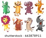 Cartoon African Animals Set....