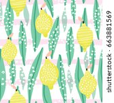 seamless pattern with creative...   Shutterstock .eps vector #663881569