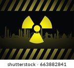 radio active sign background | Shutterstock .eps vector #663882841