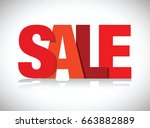 red sales sign | Shutterstock .eps vector #663882889
