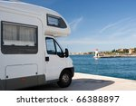 truck trailer over sea | Shutterstock . vector #66388897