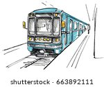 subway station sketch | Shutterstock .eps vector #663892111