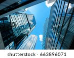 modern skyscrapers shot with... | Shutterstock . vector #663896071