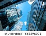 modern skyscrapers shot with... | Shutterstock . vector #663896071