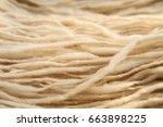 background fluffy wool yarn   Shutterstock . vector #663898225
