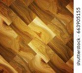 parquet floor texture 3d... | Shutterstock . vector #663905155