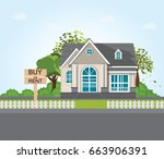 text message buy or rent on... | Shutterstock .eps vector #663906391