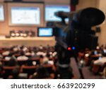 abstract blurred video camera... | Shutterstock . vector #663920299