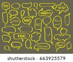big set of vector speech bubble ... | Shutterstock .eps vector #663925579