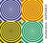 vector set of four retro... | Shutterstock .eps vector #663926815