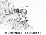 abstract graphic consisting of... | Shutterstock .eps vector #663935557