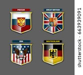 vector flags and coats of arms... | Shutterstock .eps vector #663939091