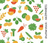 digital vector green and red... | Shutterstock .eps vector #663944851