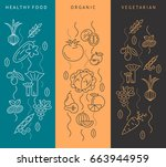 digital vector brown and blue... | Shutterstock .eps vector #663944959