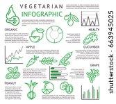 digital black green vegetable... | Shutterstock .eps vector #663945025