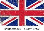 grunge uk flag.vector british... | Shutterstock .eps vector #663946759