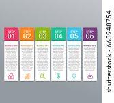modern infographic options...   Shutterstock .eps vector #663948754