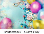 happy birthday concept with... | Shutterstock . vector #663951439