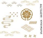 japanese pattern vector... | Shutterstock .eps vector #663951799