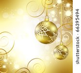 best christmas golden balls... | Shutterstock . vector #66395494